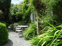 garden, crannacombe farmouse self catering near kingsbridge, south devon